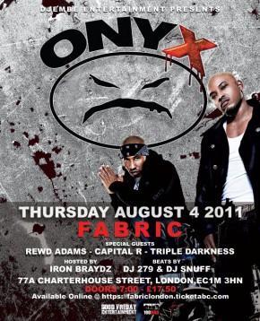 Onyx Flyer - fabric aug 4