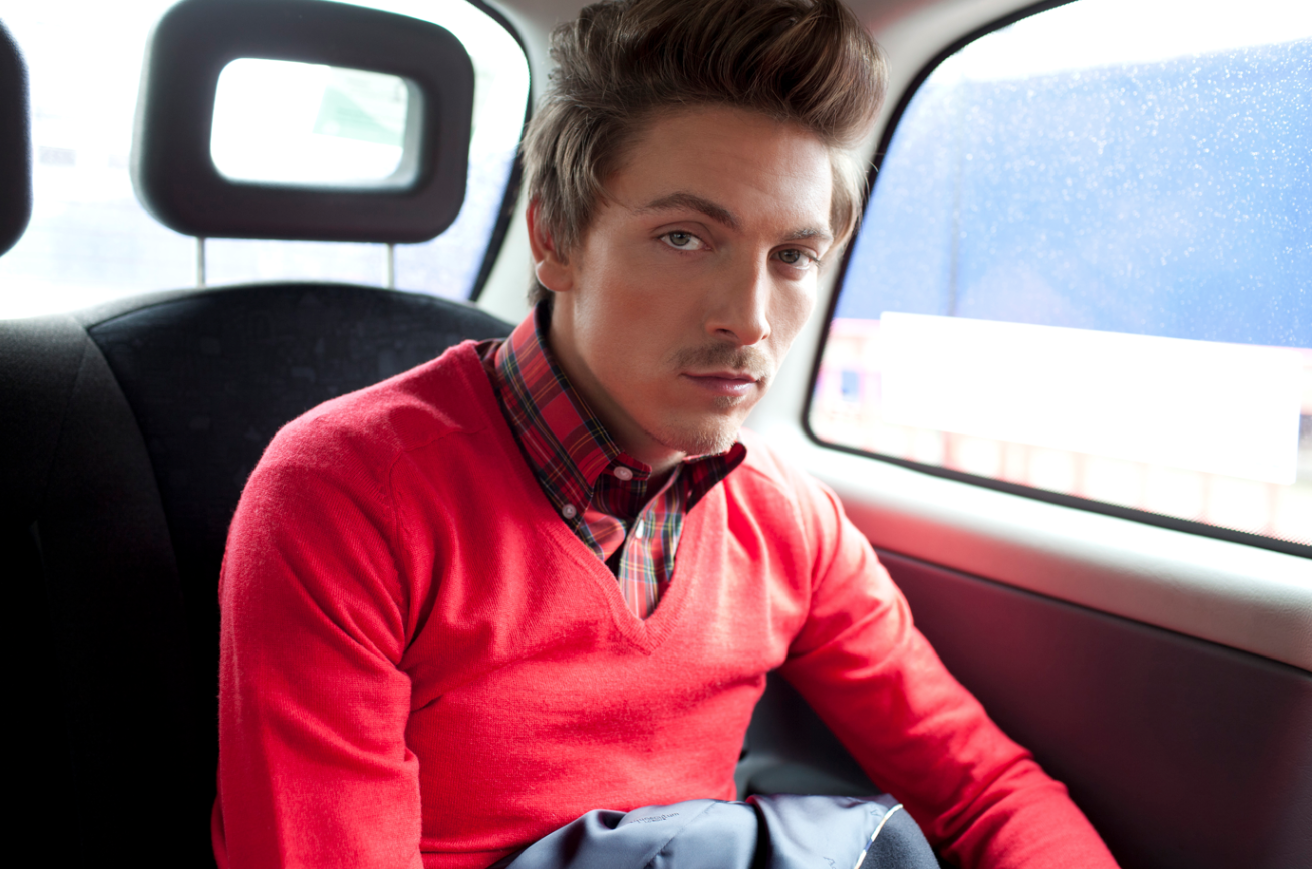 Tyler James Red jumper