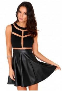 leatrher dress