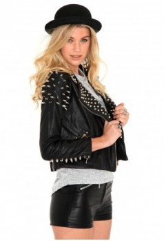 missguided leather jacket