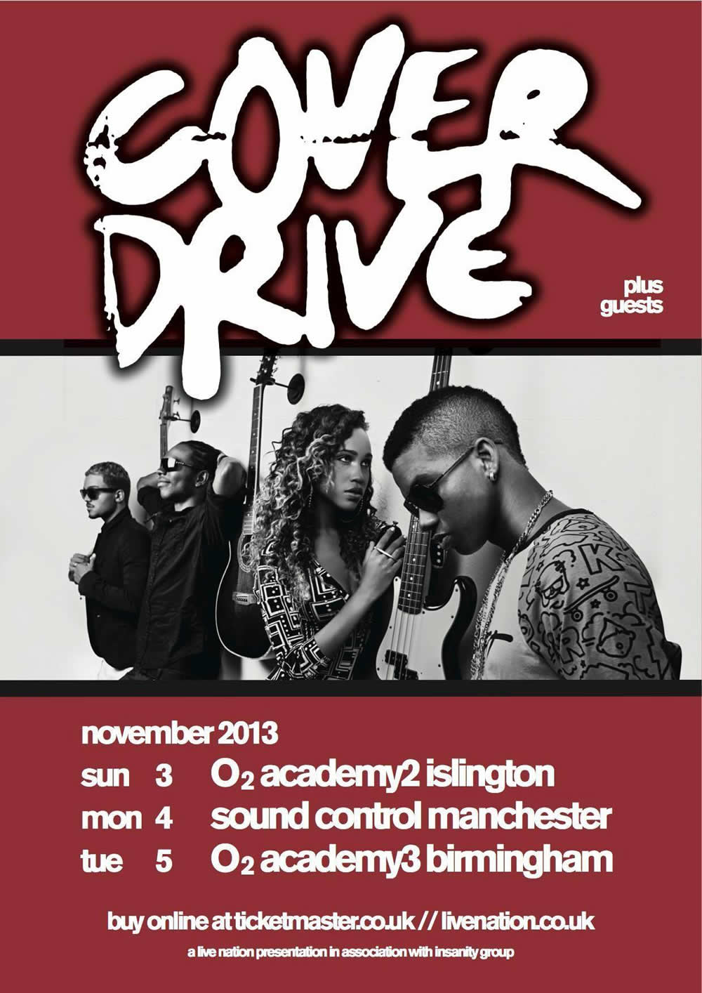 Win meet greet tickets to see cover drive live on sun 3 nov 2013 coverdrive tour poster m4hsunfo