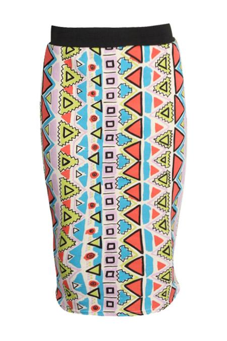 Geo Print Midi Skirt £8.00