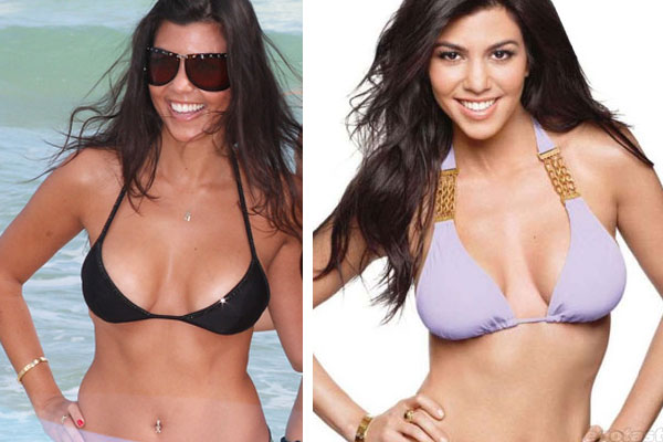 Kourtney-Kardashian-Plastic-Surgery-Before-and-After-Photos-Breast-Implants-and-Nose-Job