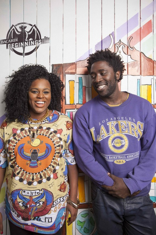 Kele Okereke, Bobbie Gordon and Kate Moross upstairs in Seven, Brixton Market for Bacardi Beginnings 5/11/2013