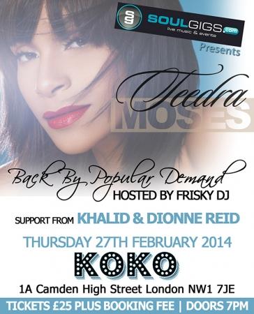 Teedra Moses at Koko 27-02-14 Flyer (1)