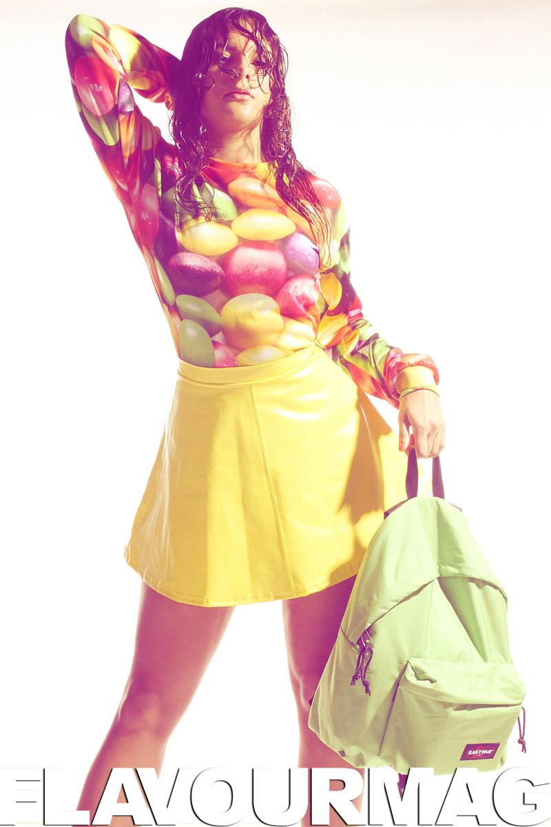 Jumper: Truffle Shuffle Skirt: Made in Preston Bag: Eastpak