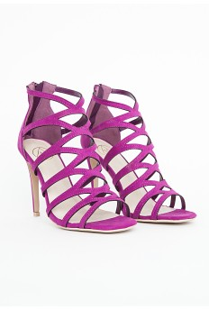 Alanah Laser Cut Sandals In Purple £29.99 - Click image to buy