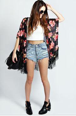 Becky Dark Base Floral Kimono £20.00 - click image to buy