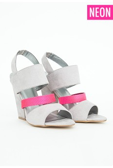 Candy Strappy Sandals With Neon Perforated Detail £29.99 - Click image to buy