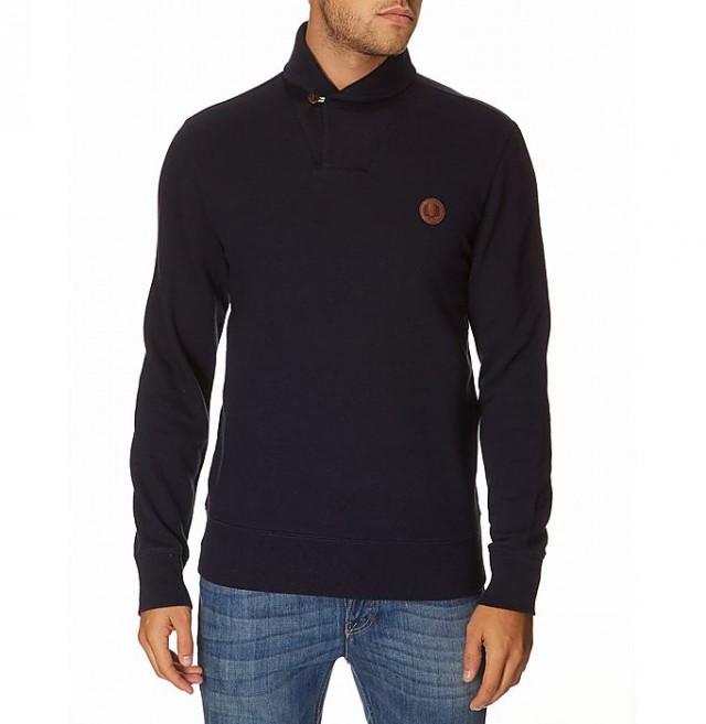 Fred Perry Overhead Shawl Collar Sweatshirt