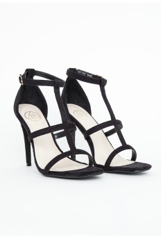 Gemma Caged Heel Sandals In Black £27.99 - Click image to buy