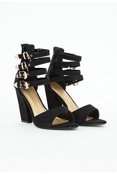 Hannah Black Multi Buckle Sandal £39.99 - Click image to buy
