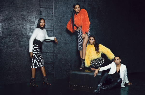Naomi Campbell, Iman and Rihanna pose for W magazine