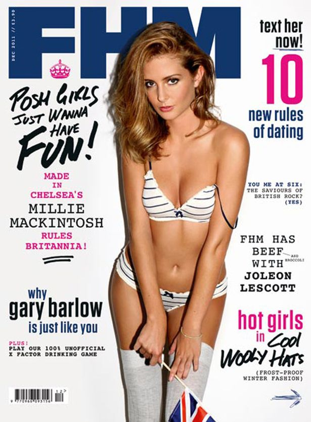 FHM December 2011 cover Millie Mackintosh