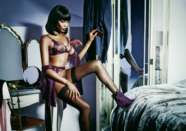 Naomi Campbell ss15 agent provocateur Tanya