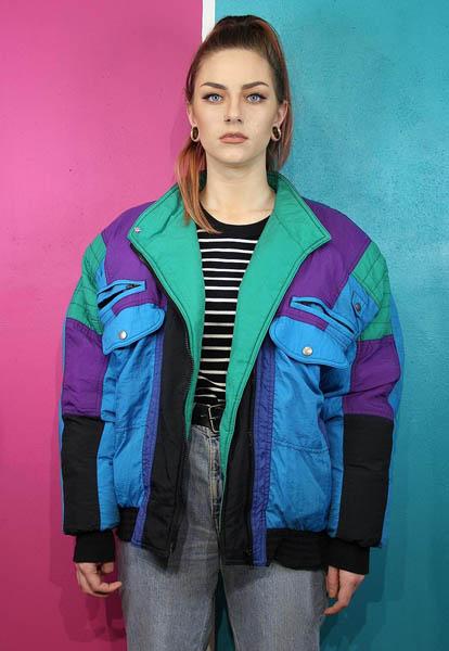 Vintage Nineties patterned Coat