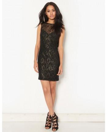Lipsy Cowl Back Lace Dress