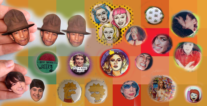 beyonce pharrell stefani sticker and badge set from etsy