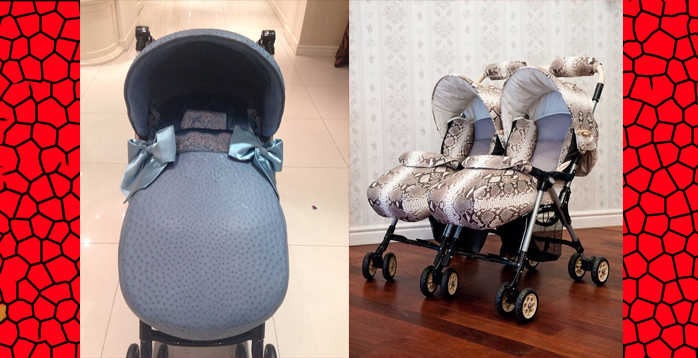 crazy expensive ostritch and python baby strollers from russia
