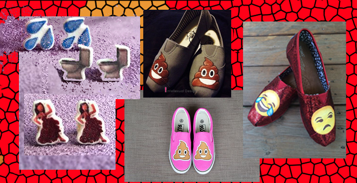etsy emoji poo shoes
