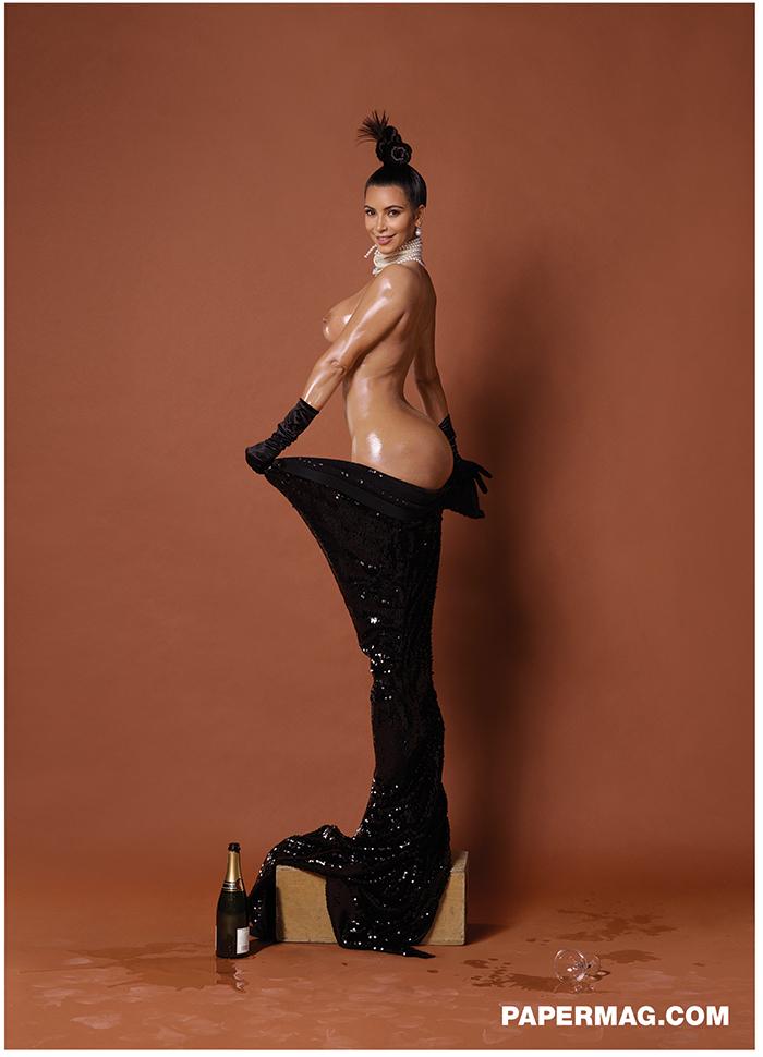 Kim Kardashian Naked for Paper Magazine