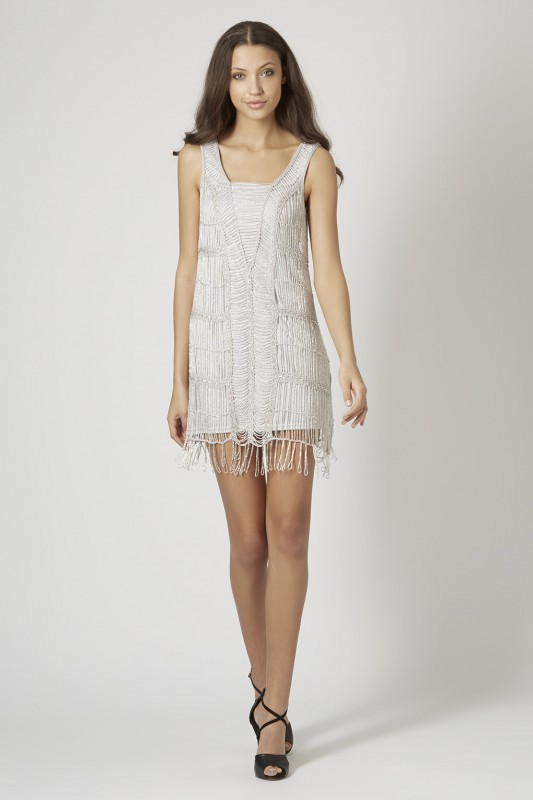 CROCHET BEADED FLAPPER DRESS