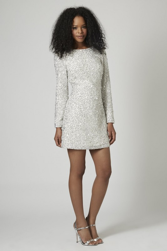 CRYSTAL EMBELLISHED BODYCON DRESS