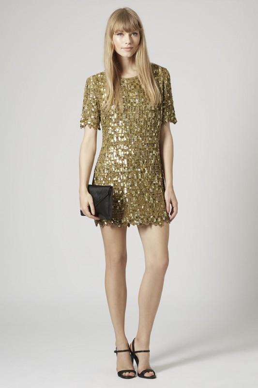 ONLINE EXCLUSIVE EMBELLISHED SHIFT DRESS