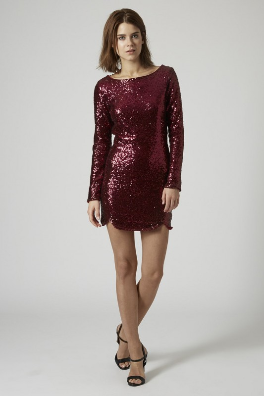 SEQUIN MINI DRESS BY GOLDIE