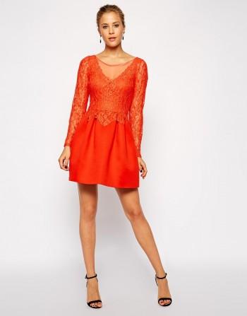 ASOS - Lace Top Premium Prom Dress