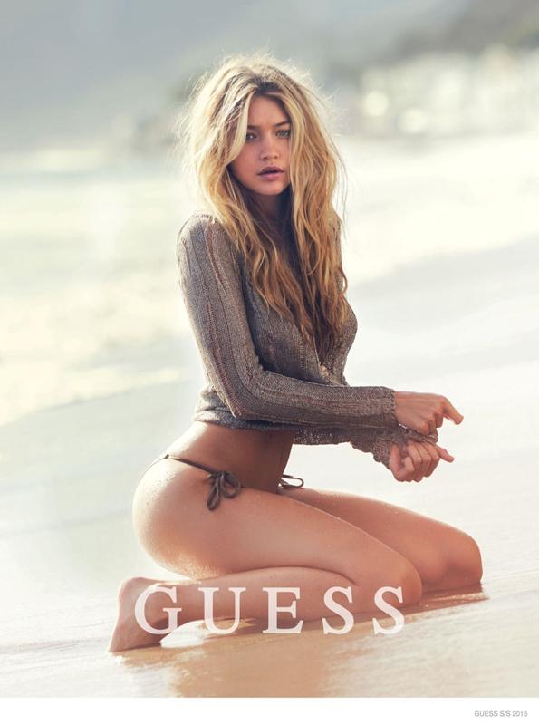 Guess gigi Hadid sexy ss15 campaign 02