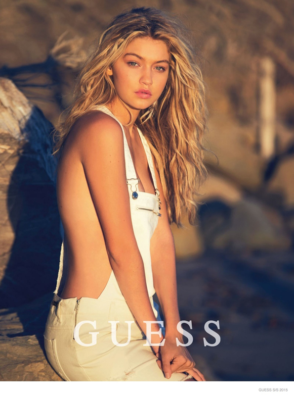Guess gigi Hadid sexy ss15 campaign 07