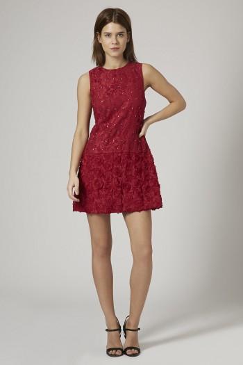 TOPSHOP - Jewel Embellished Lace Shift Dress by Opulence