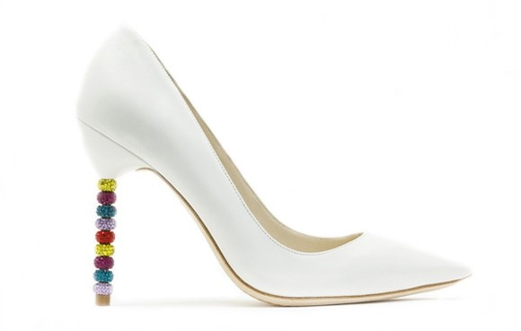 Sophia Webster Coco Crystal White Pump