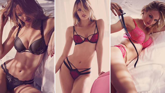 6cba7a85367 Candice Swanepoel sizzles in red hot Victoria s Secrets Valentines ...