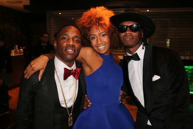 Jade Avia with MTV Brand New 2015 shortlisted artists Krept & Konan
