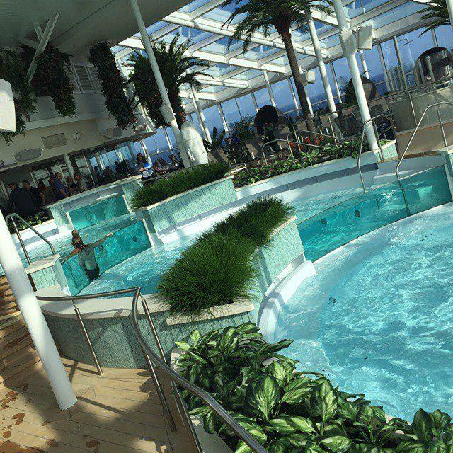 quantum of the seas - indoor pool