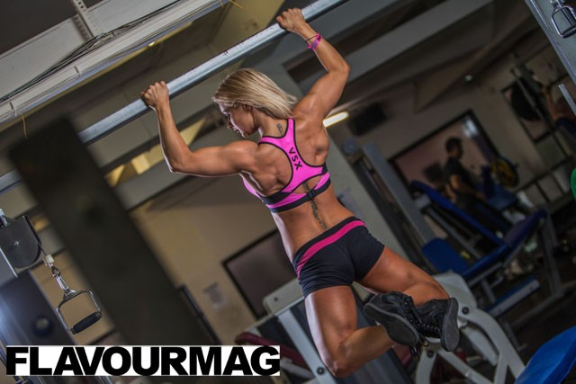 Charlayne Everhart fitness shoot Flavourmag 1
