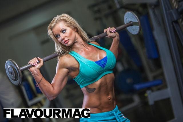 Charlayne Everhart fitness shoot Flavourmag 8