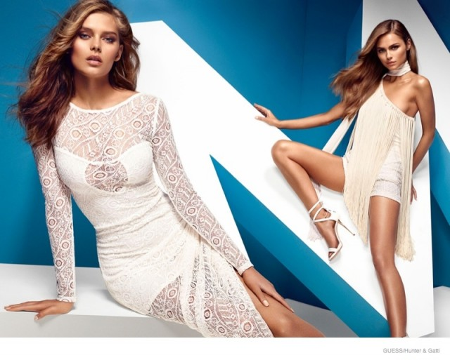 Guess by Marciano also spotlights lace and fringe for spring