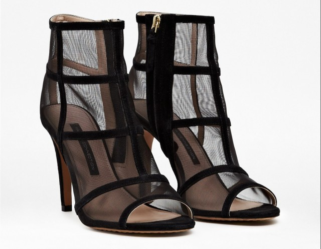 QUANNA MESH ANKLE BOOTS £125.00