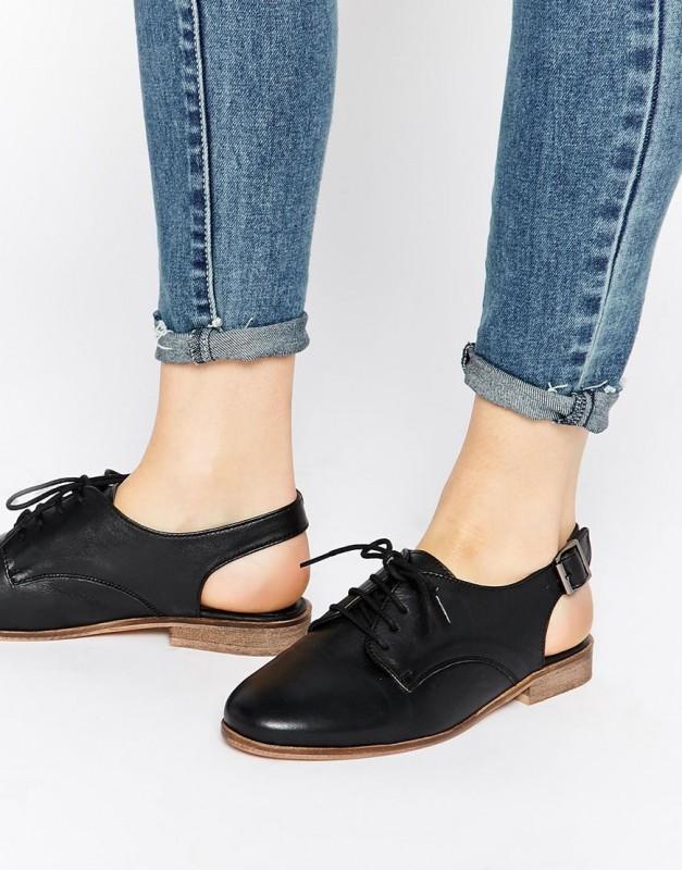 ASOS MARIYA Sling Back Lace up Leather Shoes £30.00