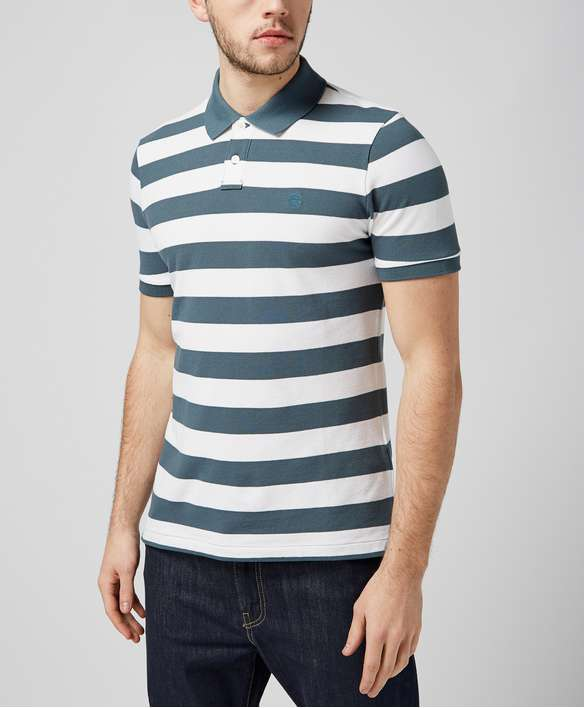 Aquascutum Womack Stripe Polo Shirt