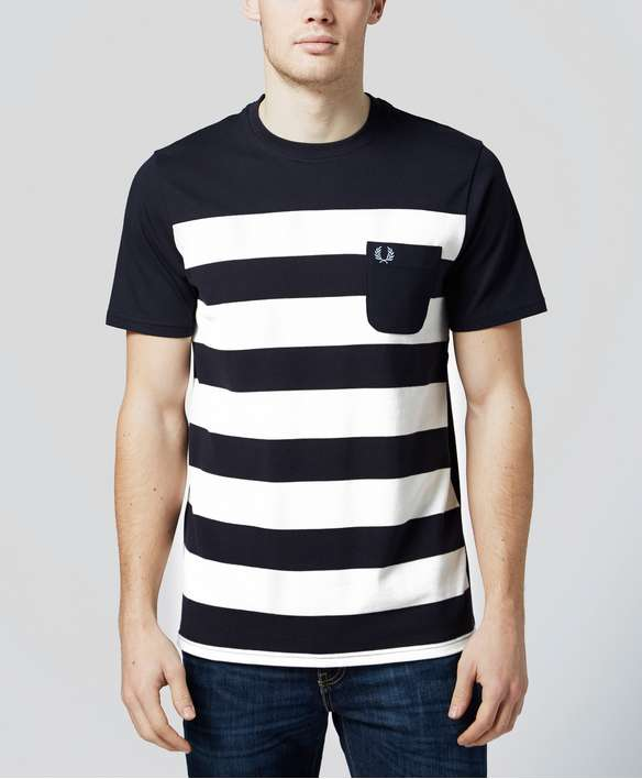 Fred Perry Pique Stripe T-Shirt Fred Perry