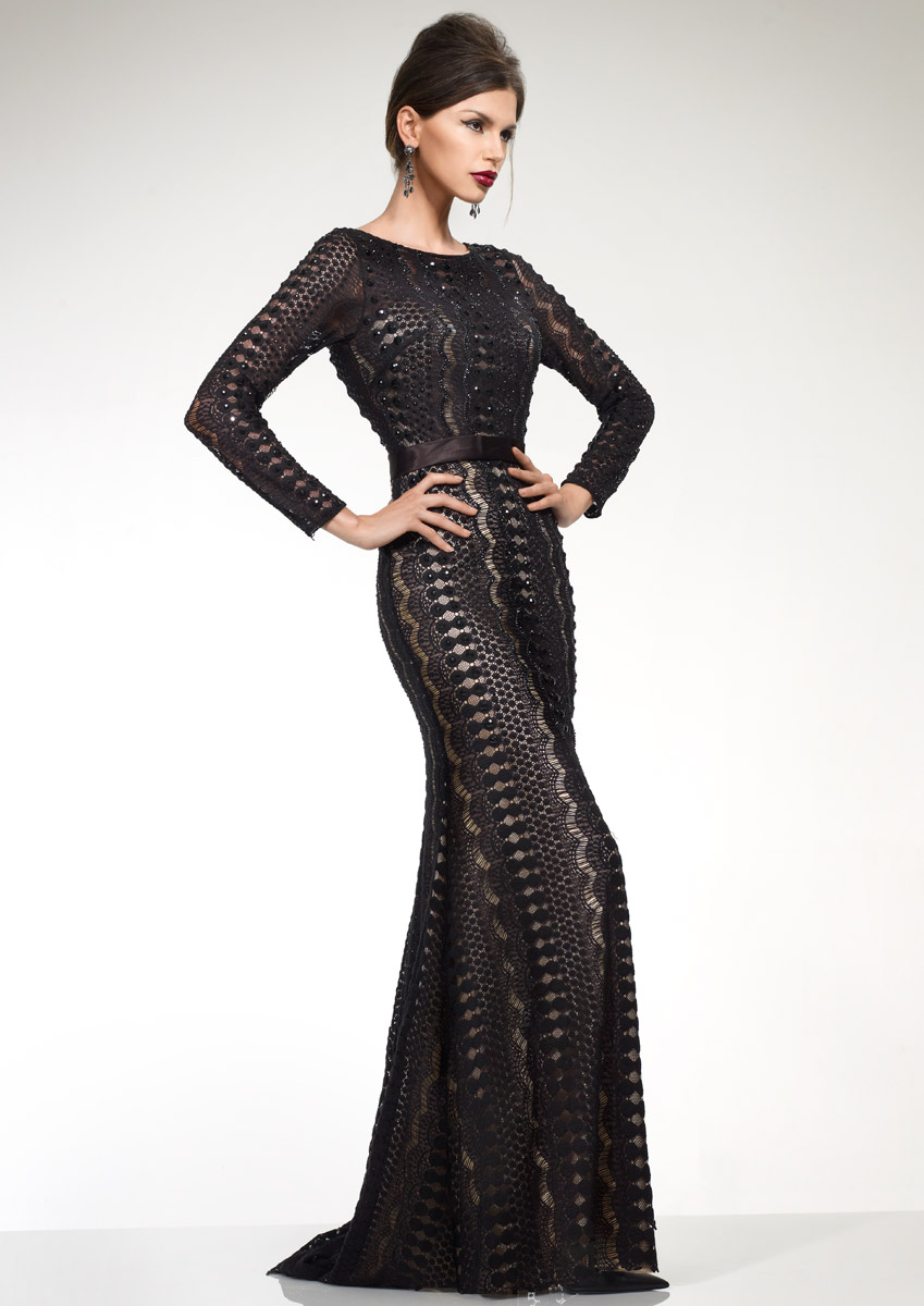 NIKKI - Fully embellished fitted dress was £550.00 now £220.00