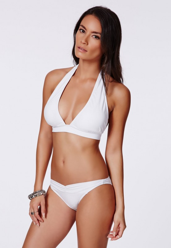 Palomia White Halterneck Bikini