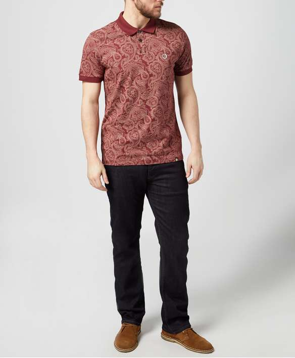 Pretty Green All Over Paisley Print Polo Shirt - Exclusive Pretty Green