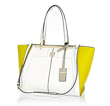 WHITE YELLOW WINGED TOTE BAG £45.00