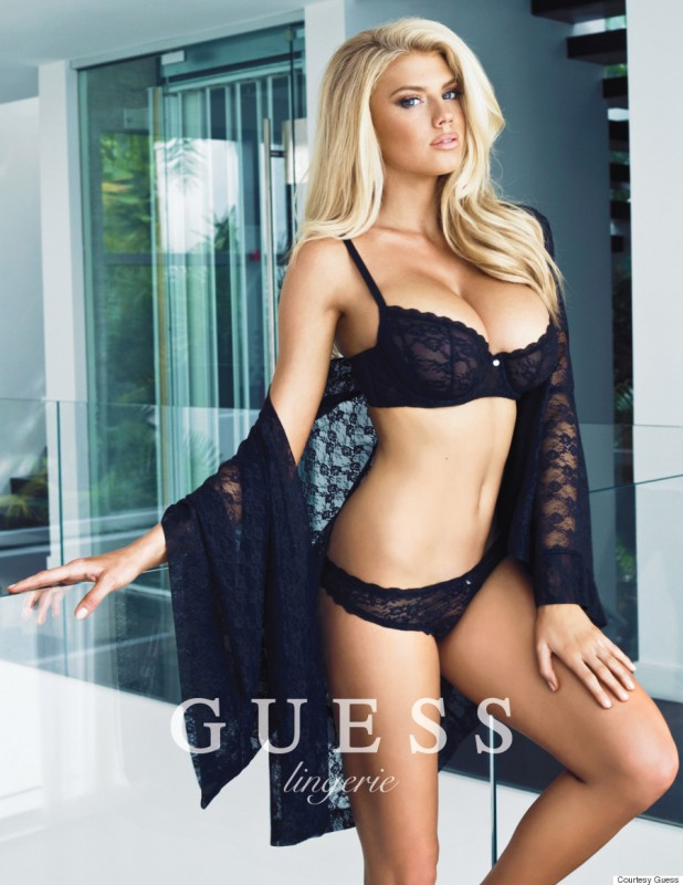 Charlotte McKinney sexy lingerie guess campaign 3