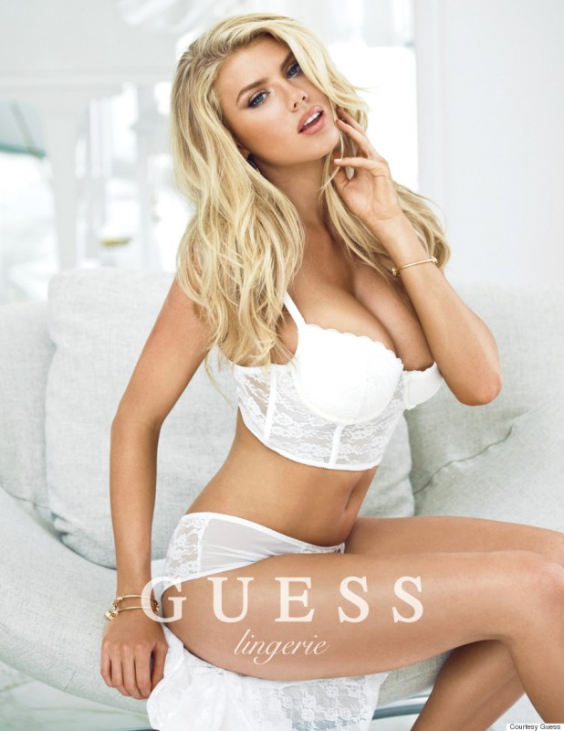 Charlotte McKinney sexy lingerie guess campaign 4